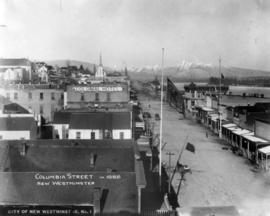 Columbia Street in 1888 New Westminster