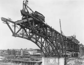 [Granville Bridge under construction]