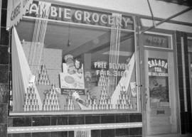 [Aylmer window display at Cambie Grocery]