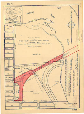 Plan of portions of False Creek (Kitsilano) Indian Reserve, Vancouver, B.C., required for Burrard...