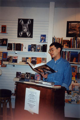 Paul Yee reading at launch of Struggle and Hope at Another Story Bookstore, Toronto