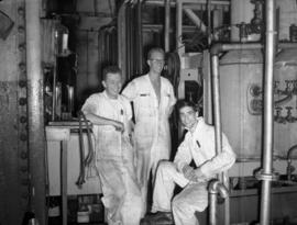 University of British Columbia students at verite pilot plant: Frank Mooney, Don Cianci and Bob K...