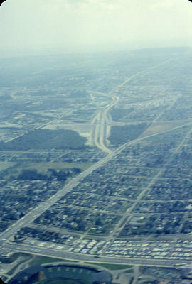 [Aerial view from helicopter] - Trans Canada Highway