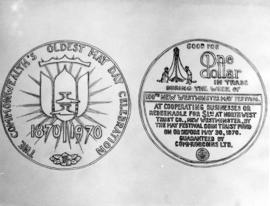 Design of May Day Centenary Celebration One Dollar Coin