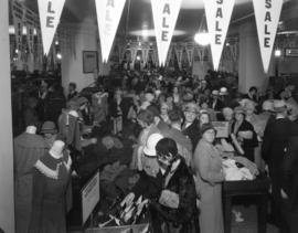 Hudson's Bay Company - crowd in Bargain Basement