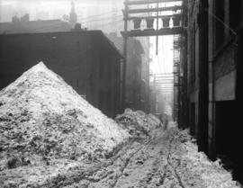 [Snow in alley]