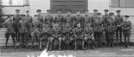 [Group portrait of] Officers 1st Depot Battalion Hastings Park, Vancouver, B.C.