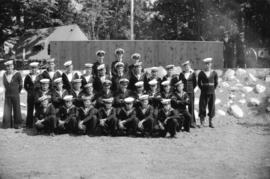 [Group portrait of Prince Rupert division Sea Cadets at Whytecliffe]