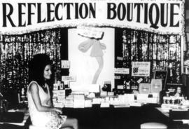 Reflection Boutique display of cosmetics products