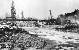 Coquitlam Dam, Old Spill-way