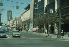 North side of Robson Street at Hornby