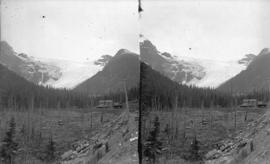 [Glacier Hotel and glacier, Selkirk Mountains]