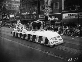Pacific National Exhibition float in 1953 P.N.E. Opening Day Parade