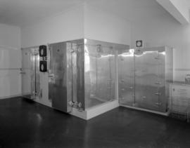 [Blood storage facilities at the Red Cross]