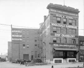 [Wood, Vallance and Leggat Ltd. wholesale hardware building at 573 Carrall Street]
