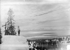 [Skier on top of Mt. Seymour, B.C.]