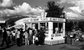 Ice cream stand on P.N.E. grounds