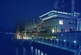 Canada Place and Pan Pacific Hotel at night