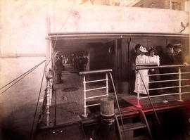"[Upperdeck of the R.M.S. ""Miowera""]"