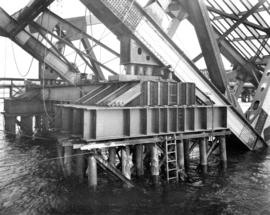 No. 3 New Falsework Pier Showing Improved Construction [of Second Narrows Bridge]