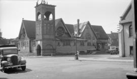 Princess St. Church [Dunlevy and East Pender Streets - showing fire damage]