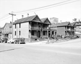 [Houses being demolished on south west corner of Georgia and Beatty streets]