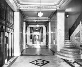 [Interior of the Shelly (Duncan) Building at 119 West Pender Street]
