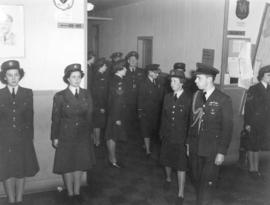 [Inspection of members of Women's Division of the Royal Canadian Air Force (RCAF) at Western Air ...
