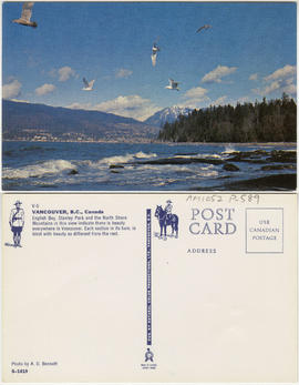 [English Bay, Stanley Park, and the North Shore mountains]