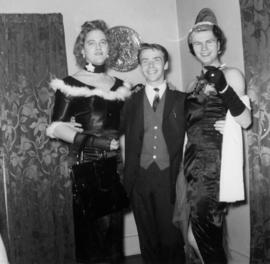 Peter Bidlake [centre] at xmas house party