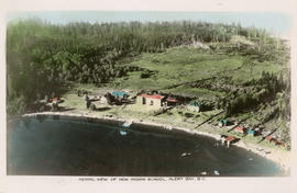 Aerial view of new Indian school, Alert Bay, B.C.