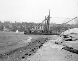 [McKenzie Bardge and Derrick Company Limited dredging False Creek for new water main]