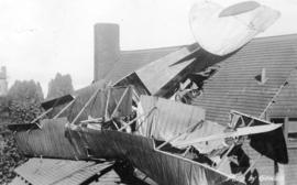 [Hydro plane crash into roof of house at 755 Bute Street]