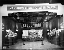 Vancouver Pacific Paper Co. display of Cellophane and paper products