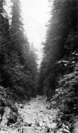 Cathedral Canyon, Indian river, Burrard Inlet