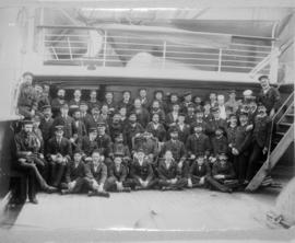 "[An unidentified ""Empress"" crew on deck]"