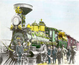 First C.P.R. Locomotive to Reach Vancouver