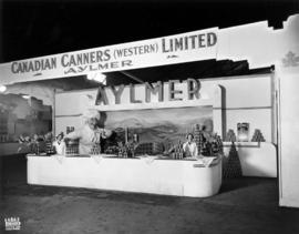 Canadian Canners Western display of Aylmer canned food products