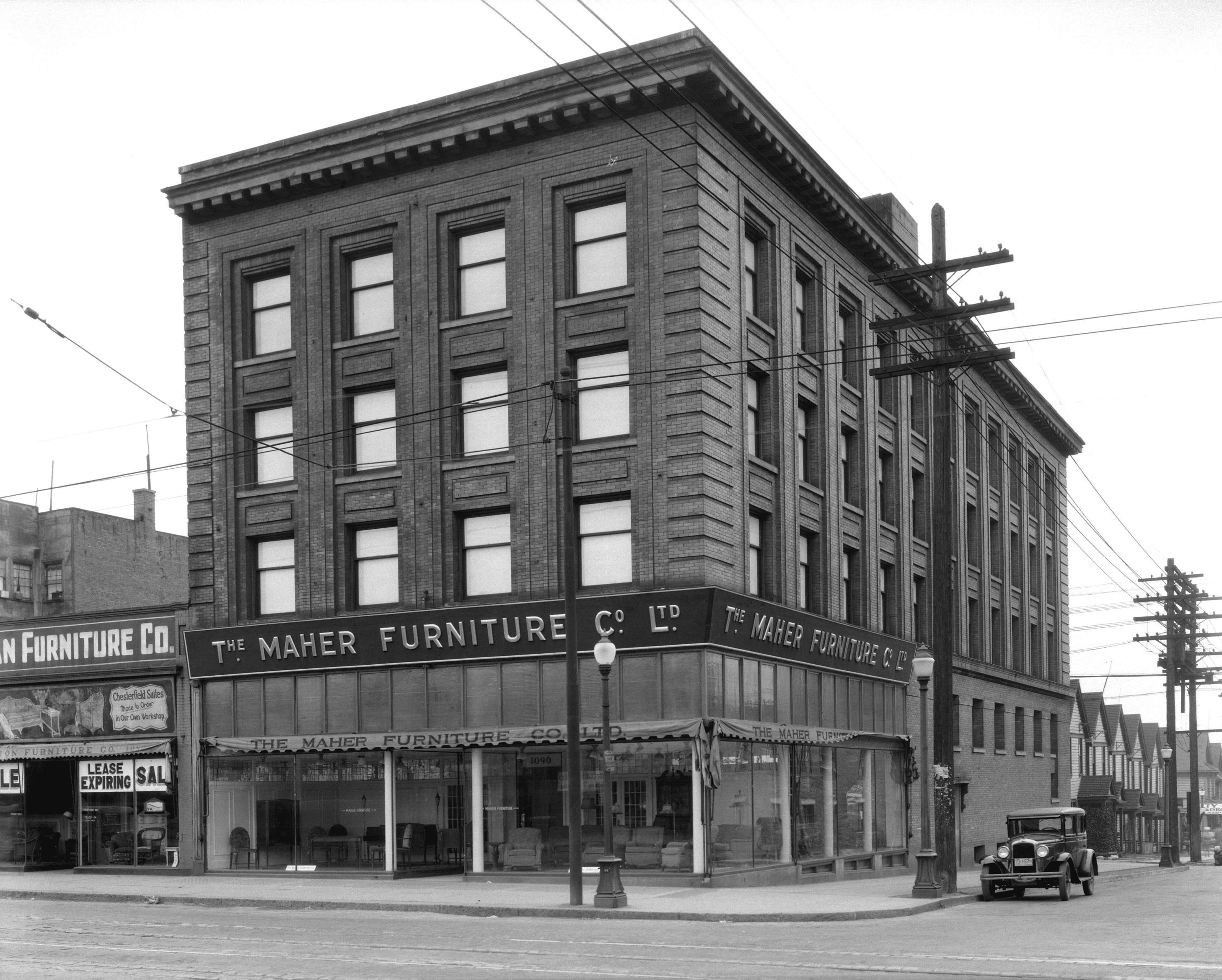 The Maher Furniture Company New Home 1090 Granville Street City Of Vancouver Archives