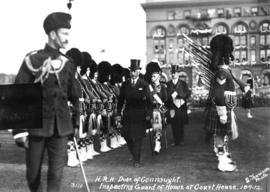 H.R.H. Duke of Connaught inspecting Guard of Honour at Courthouse, 18.9.12