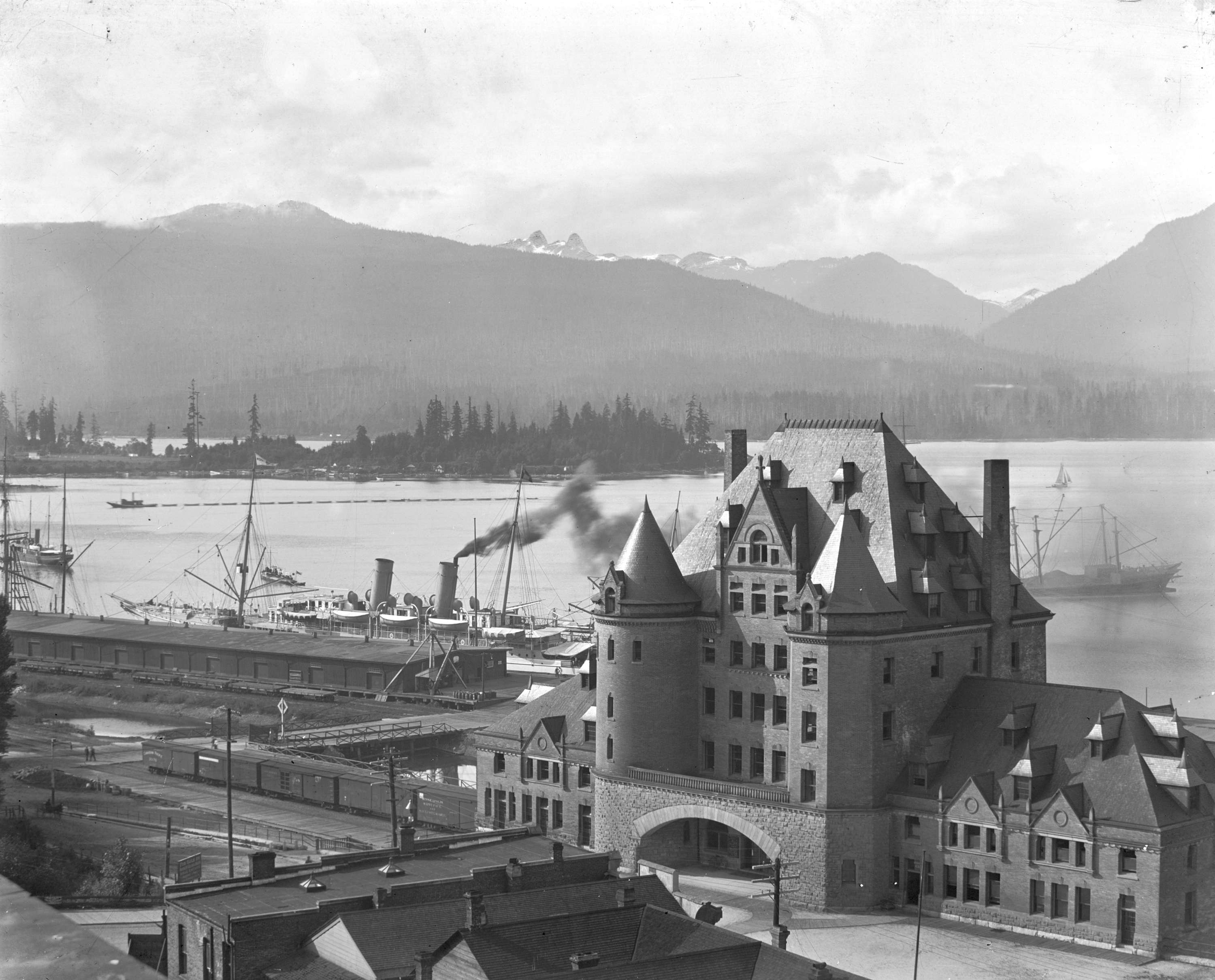 C P R Station At The Foot Of Granville Street City Of