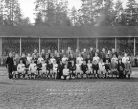 N.Z. All Blacks and Vancouver Rep. [rugby teams at] Brockton Point
