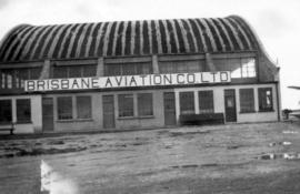 [The Brisbane Aviation Company Limited building at Vancouver Civic Airport]