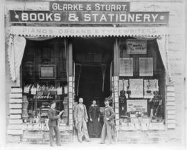 [Clarke and Stuart Books and Stationery store at 28 Cordova Street]