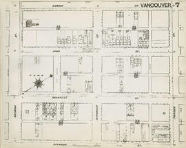 Plan of Vancouver, 1889 [fire map] : [Pender Street to Hornby Street to Georgia Street to Seymour...