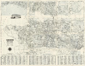 Street map of Greater Vancouver showing distances from Bekins building