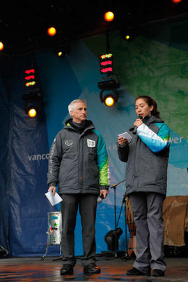 Torch Relay crew members on stage [3 of 4[