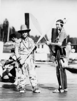 Chief Mathias of Capilano, and Scout Grey Eagle of United States