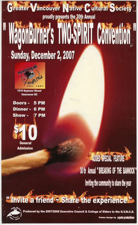 Greater Vancouver Native Cultural Society proudly presents the 30th annual WagonBurner's Two-Spir...