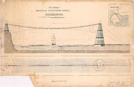 First Narrows. Proposed Suspension Bridge for Foot Passengers Only